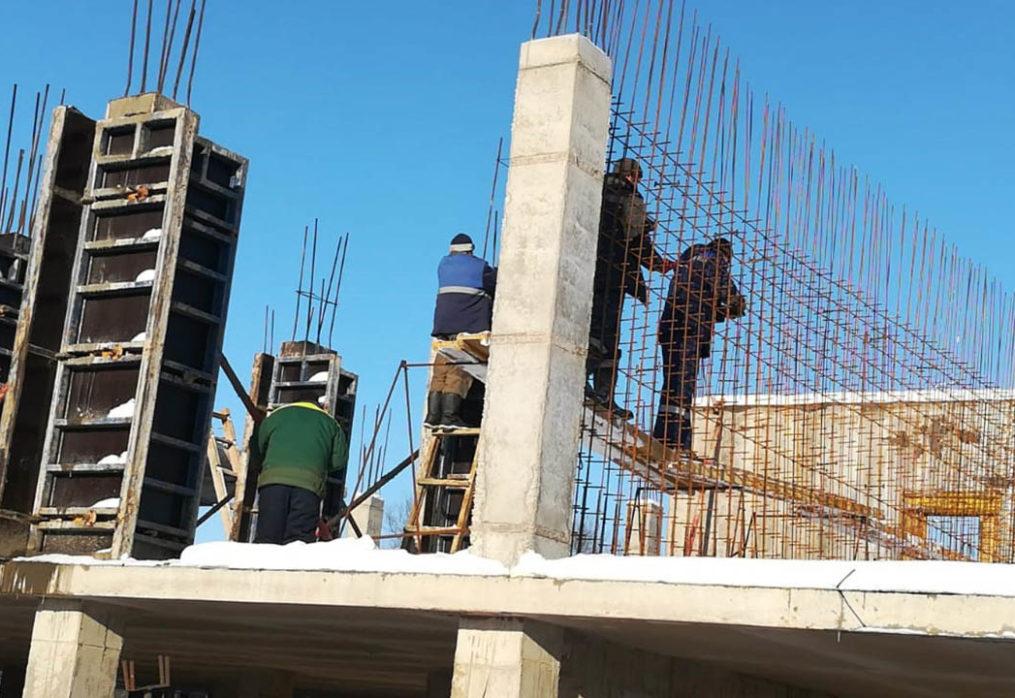 Устройство несущих конструкций, внутренних стен и перегородок